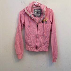 Pink by Victoria's Secret be happy pink hoodie